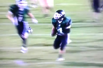High School Football Player Hurdles Tackler En Route to a 65-Yard TD