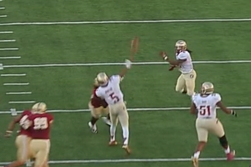 FSU QB Jameis Winston Completes 55-Yard Hail Mary TD Pass Right Before Half