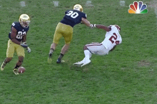Notre Dame LB Ben Councell Ejected for Targeting vs. Oklahoma