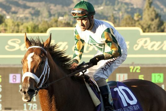 Mucho Macho Man Wins Awesome Again at Santa Anita