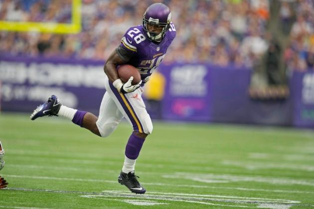 GIF: NFL MVP Adrian Peterson Dazzles Wembley Crowd with 60-Yard Touchdown