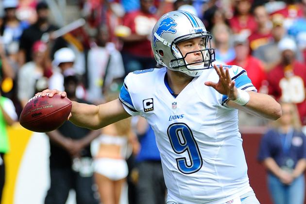 Matthew Stafford's Updated 2013 Fantasy Outlook and Trade Value After Week 4