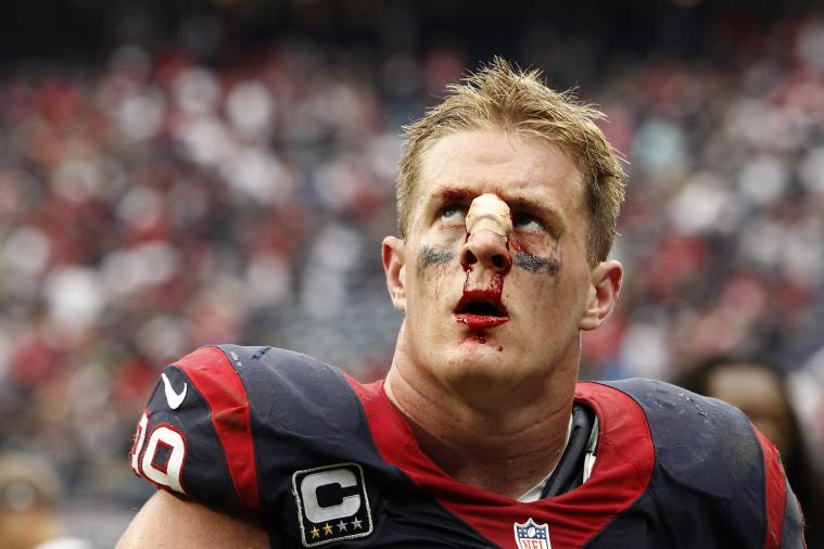 JJ Watt Was a Bloody Mess on Sunday