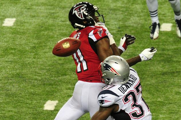 Patriots Withstand Rally to Down Falcons, 30-23