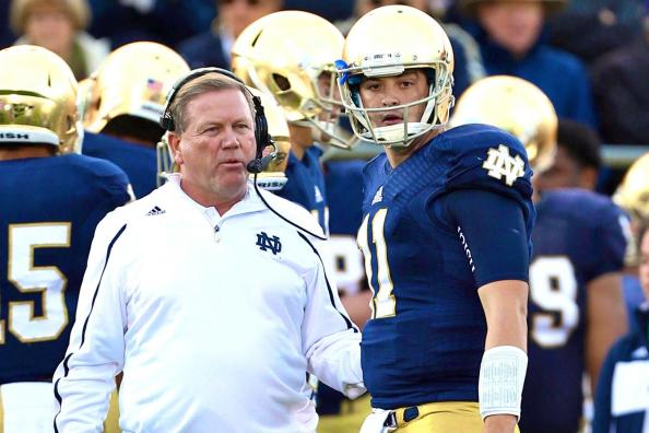 Brian Kelly Is Making a Mistake Keeping Tommy Rees as Notre Dame Starting QB