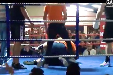Ref Body Slams Angry Fighter
