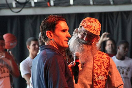 Jamie Dixon Dresses in 'Duck Dynasty' Garb for 'Morning Madness'