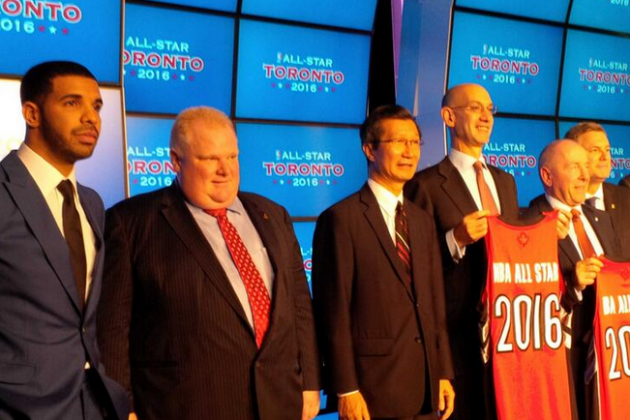 Image: Drake Helps Raptors Announce 2016 All-Star Game Plans