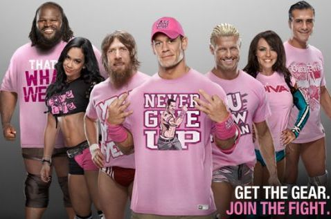WWE Superstars to All Wear Pink Ring Gear for Breast Cancer Awareness Month