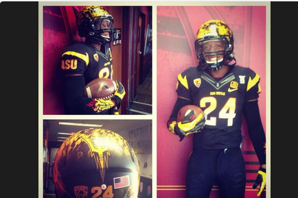 Photos: Arizona State Releases Crazy Flame Helmet