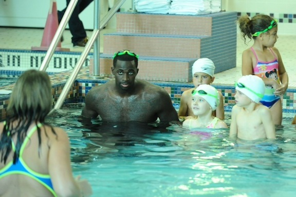Boston Celtics' Brandon Bass Learning How to Swim at Age 28