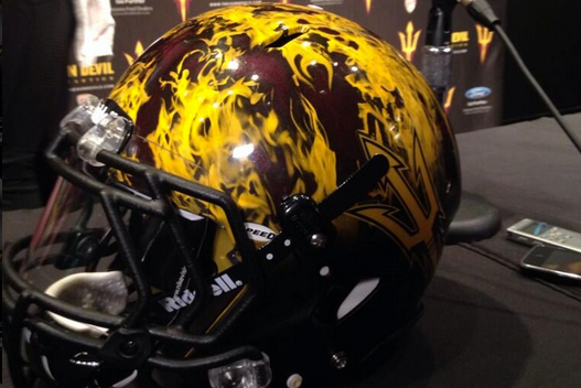 Arizona State Unveils Flame Helmet for Game Against Notre Dame