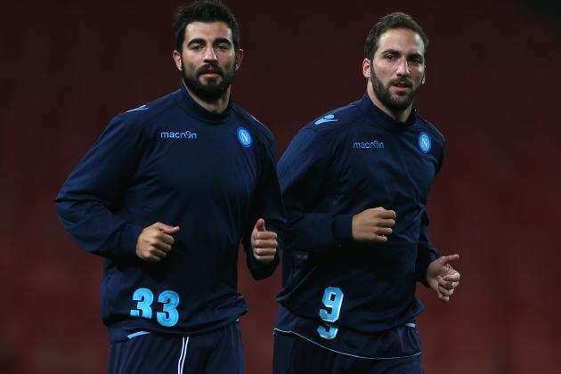 Gonzalo Higuain Reportedly a Doubt for Arsenal vs. Napoli Showdown