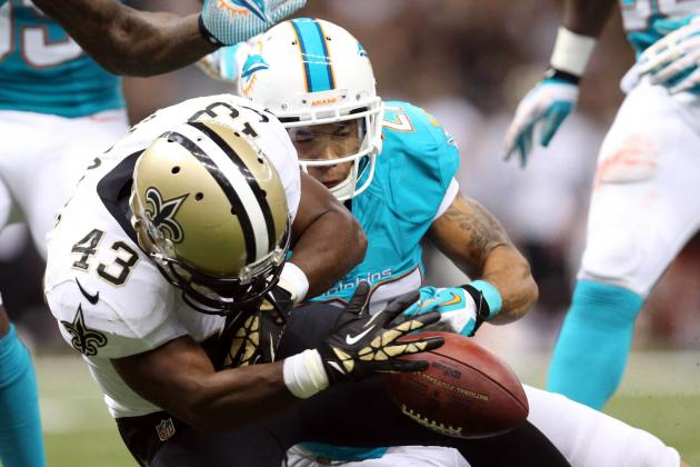 Saints Offense Halts Dolphins Run Game