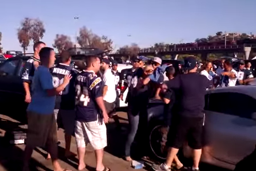 Bottles Smashed and F-Bombs Dropped in Chargers and Cowboys' Fan Fight