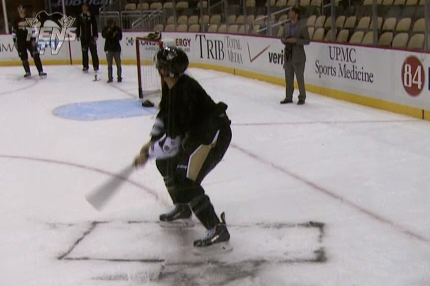 Video: Pengiuns Have Pirates Fever, Play Wiffle Ball on Ice