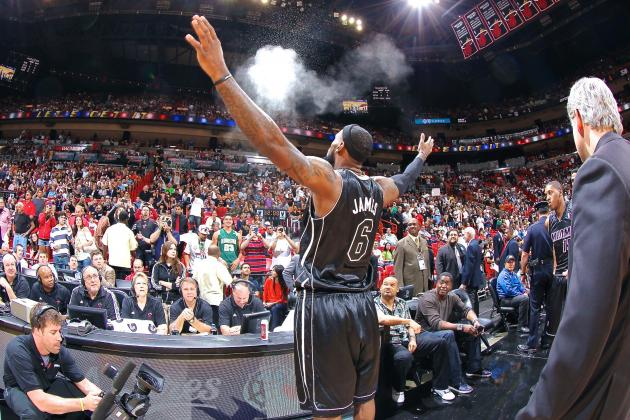LeBron James to Bring Back Famous Pregame Powder Toss in 2013-14