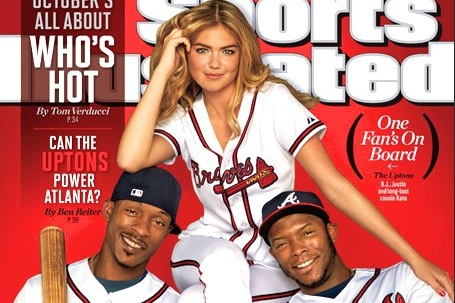 Kate Upton Hits Sports Illustrated's October Cover with Braves' Upton Brothers
