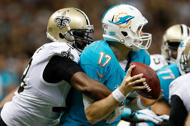 Dolphins' Ryan Tannehill Getting Sacked at Near Record Pace