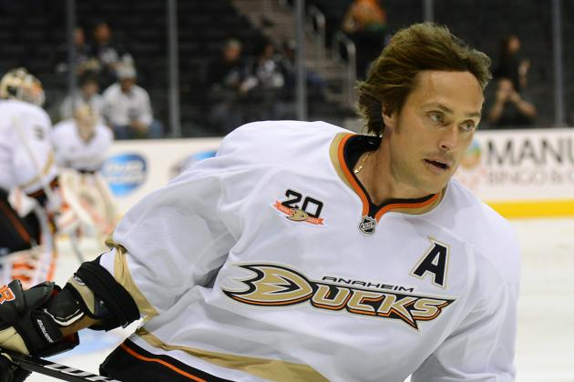 Ducks Will Track Teemu Selanne's Ice Time Closely in His Final NHL Season
