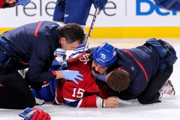 George Parros out of Hospital, out Indefinitely with Concussion