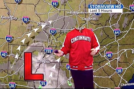 Louisville Weatherman, So Ashamed by Reds, Decided to Go Faceless for Report
