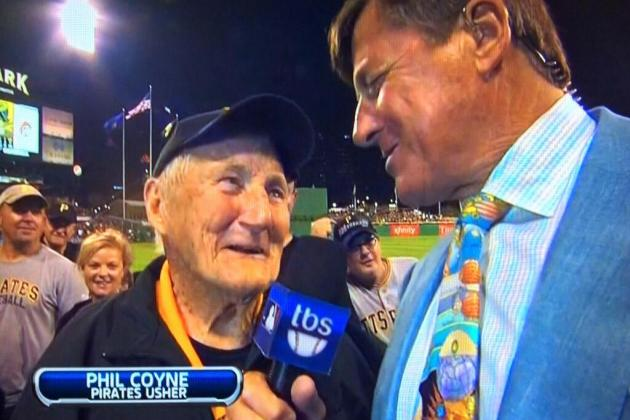 Pirates' 95-Year-Old Usher, Phil Coyne, Nearly Stole Show During Wild Card Game