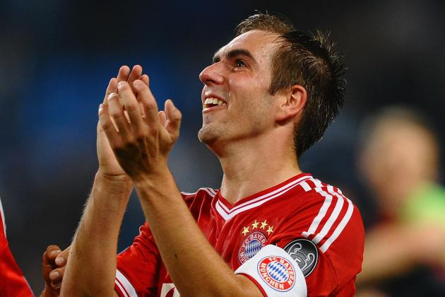 Philipp Lahm's Textbook Slide Tackle on Jesus Navas as Bayern Beat Man City