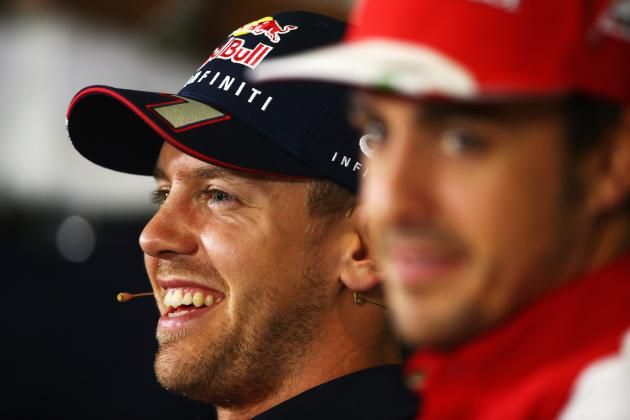 Fernando Alonso Says Sebastian Vettel Is Not Cheating with Driver Aids