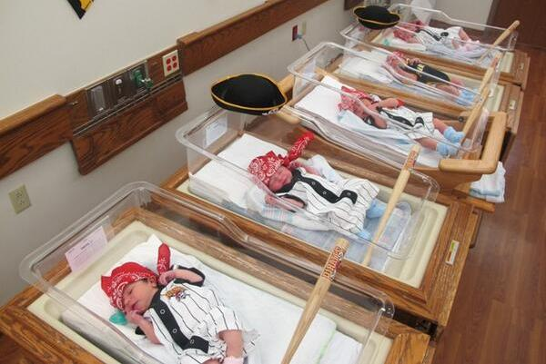 Pittsburgh Hospital Dresses Newborn Babies as Pirates to Start Them Off Right