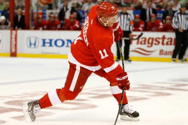 Daniel Alfredsson Sidelined from Detroit Red Wings Practice by Sore Groin