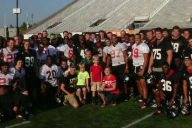 5-Year-Old with Leukemia Sacks NIU QB at Team Practice