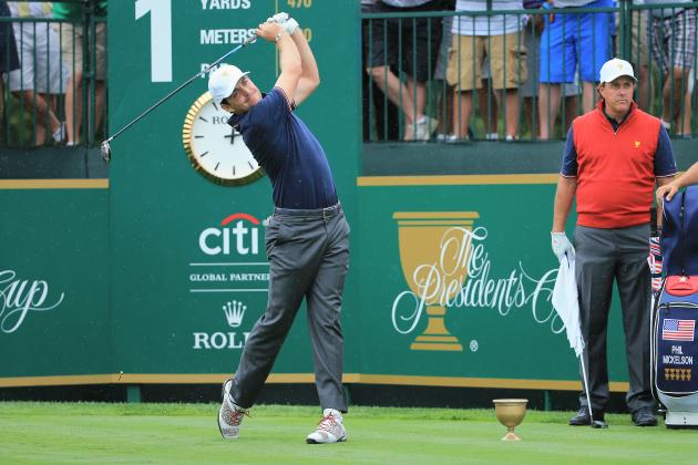 PGA Golfer Keegan Bradley Drills a Spectator at the Presidents Cup