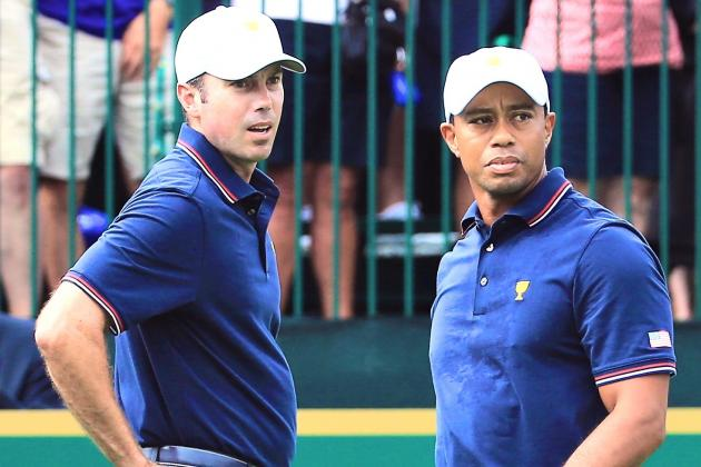 Tiger Woods at Presidents Cup 2013 Tracker Day 1: Highlights, Updates, Analysis