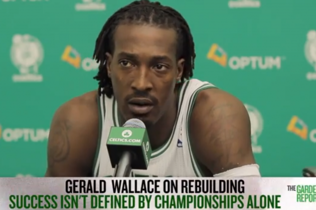 Gerald Wallace's Voice Sounds Like He's Speaking Through a Pipe
