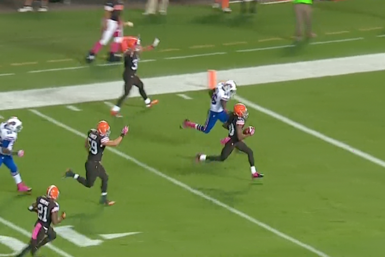 Browns WR Travis Benjamin Breaks off 79-Yard Punt Return for TD