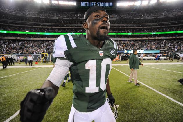 NY Jets WR Santonio Holmes on Lack of Catches: 'I Can't Throw It to Myself'