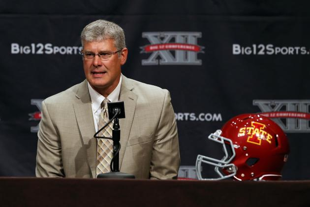 Comparing Iowa State Coach Paul Rhoads' Rant to Mike Gundy's 'I'm a Man!' Tirade