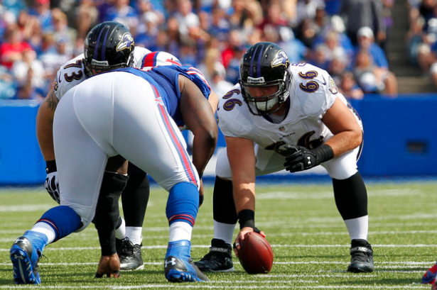 Gino Gradkowski Seeks Improvement After Early Offensive Line Struggles