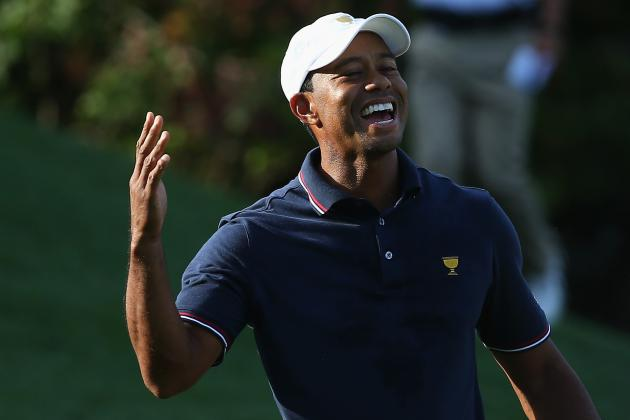 Tiger Woods at Presidents Cup 2013 Tracker Day 2: Highlights, Updates, Analysis