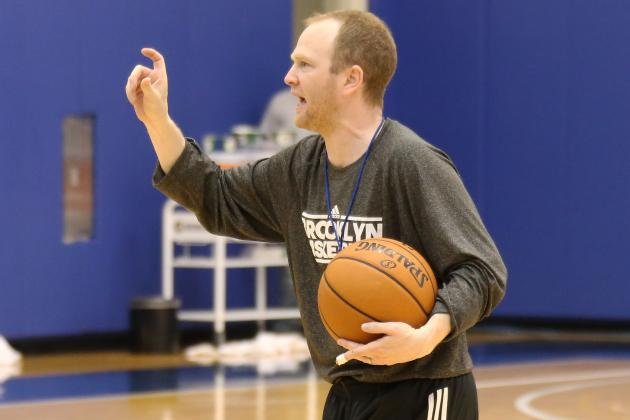 Lawrence Frank Runs Sprints with Brooklyn Nets Players
