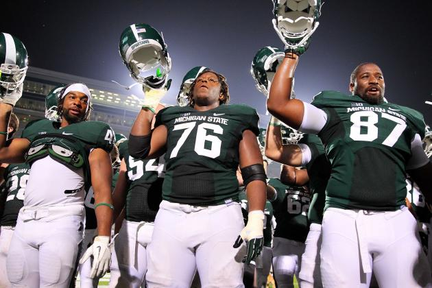 Michigan State Pleased with Play of Offensive Line