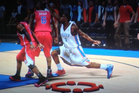 Kendrick Perkins' Crazy Jump Shot Pose Is in NBA 2K14