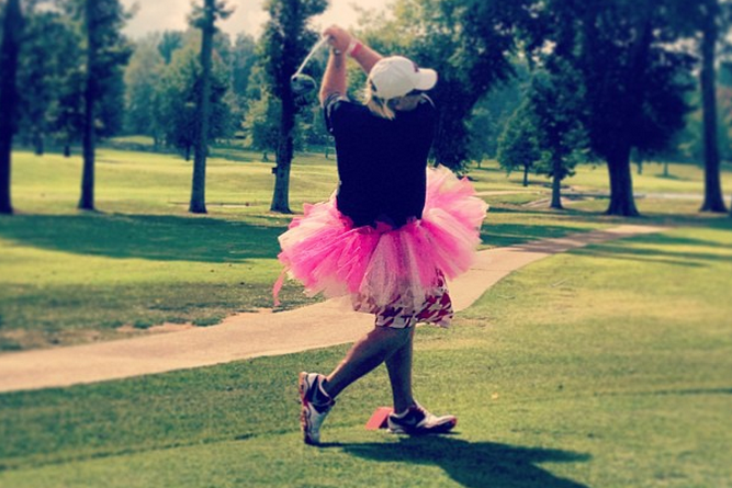 John Daly Golfs in a Tutu to Raise Money for an Organization