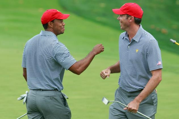 Woods and Mickelson Go Low; Internationals Surprise at Presidents Cup