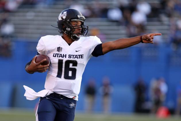 QB Keeton Assisted off with Injury vs. BYU