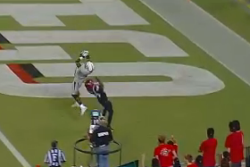 Watch: WR Wimberly Catches TD, Extends Rec Streak
