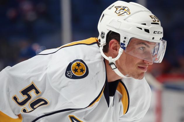 Josi Leaves Game with Upper-Body Injury