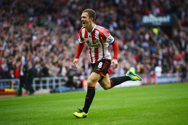 GIF: Gardner Gives Sunderland Lead After Shocking Manchester United Defending
