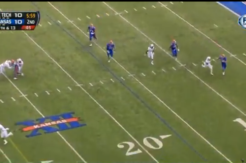 Kansas Coach Charlie Weis Calls for Awful Fake Punt Inside Own 20